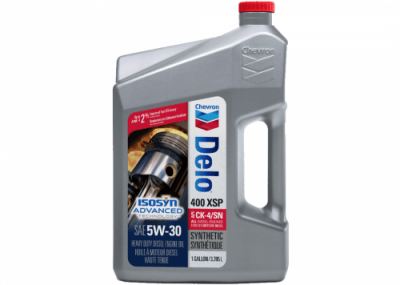 257001 Chris Page & Associates Chevron Delo 400 XSP SAE 5W-30 5W30 5-30 5W 30 Synthetic Engine Oil Heavy Duty Enging Oils