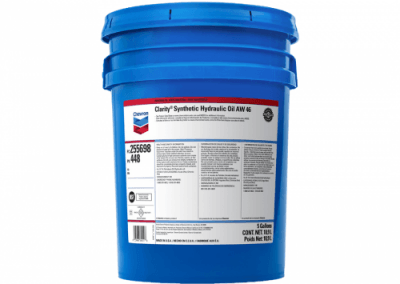 255698 Chris Page & Associates Chevron Clarity Synthetic Hydraulic Oil AW 46 Hydraulic Oils AW mobile stationary environmentally sensitive hydraulic vane piston gear