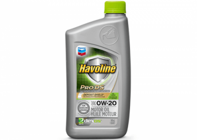 223508 Chris Page & Associates Chevron Havoline ProDS Full Synthetic Syn Motor Oil 0W-20 0W20 0W 20 Passenger Car Engine Oil