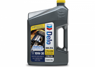 Chevron Delo 400 ZFA Synthetic Blend 10W-30