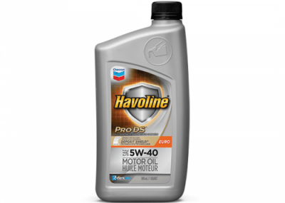 223504 Chris Page & Associates Chevron Havoline ProDS Full Synthetic Syn Motor Oil Euro 5W-40 5W40 5W 40 Passenger Car Engine Oil